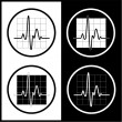 Royalty-Free Stock Vector Image: Vector cardiogram icons