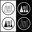 Vector chemical test tubes icons — Stock Vector