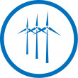 Vector wind turbine icon — Imagen vectorial