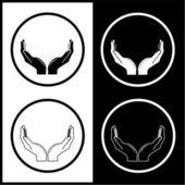 Vektor hände symbole — Stockvektor