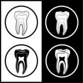 Vector tooth icons — Stock Vector
