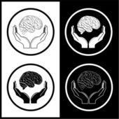 Protection of brain — Stock Vector