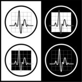 Vector cardiogram icons — Stock Vector