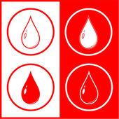 Vector blood drop icon — Stock Vector