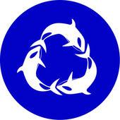 Vector killer whale icon — Stockvektor