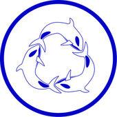 Ikona wektor wieloryb zabójca — Wektor stockowy