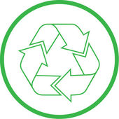 Vector recycle icon — Stock Vector