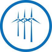 Vector wind turbine icon — Stock Vector