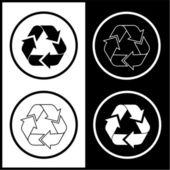 Vektor-recycling-icons — Stockvektor