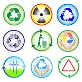Reciclar ícones — Vetor de Stock