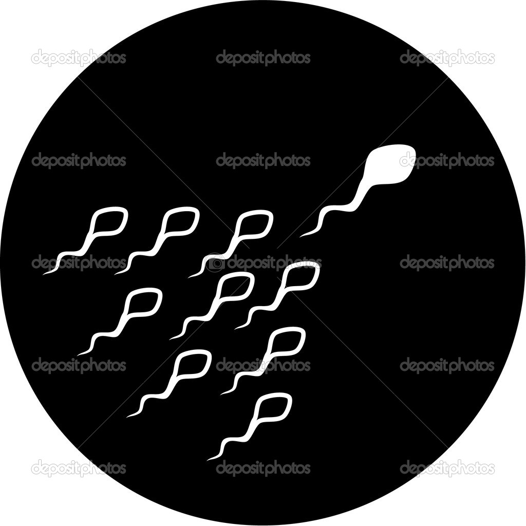 Vector spermatozoon icon. Black and white. Simply change.  — Stock Vector #6713972