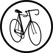 Vector bicycle icon — Stock Vector #6721683