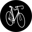 Vector bicycle icon — Stock Vector