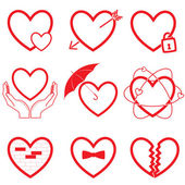 Vector heart icons — Stock Vector
