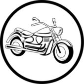 Vector motorcycle icon — Stock Vector