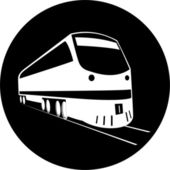 Vector train icon — Stock Vector