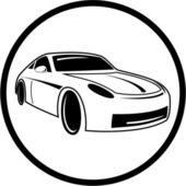 Icono de auto vector — Vector de stock