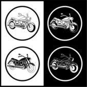 Vector motorcycle icons — Stock Vector