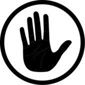 Vector hand icon — Stock Vector