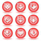 Vector medical icons — Stock Vector