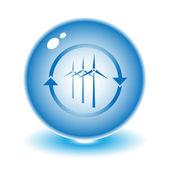 Vector ilustración de turbina de viento — Vector de stock