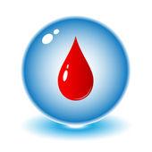Ikona kropla krwi wektor — Wektor stockowy