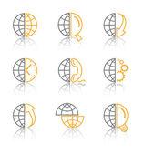 Vector abstractos iconos de internet — Vector de stock
