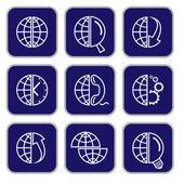 Vector internet icons — Vecteur