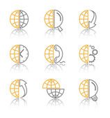 Vector abstract internet icons — Vector de stock