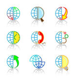 Vector internet icons — 图库矢量图片