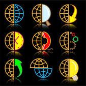 Vector internet icons — Stock Vector