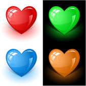 Color heart — Stock Vector