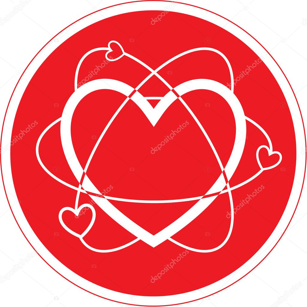 Vector heart icon. Red and white. Simply change.   Stock Vector #6721606
