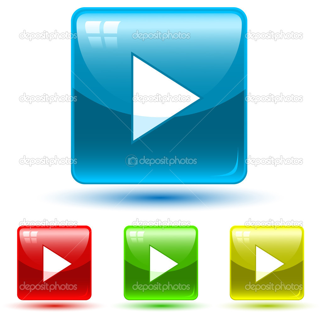 Web buttons. Vector illustration.  Stock Vector #6724109