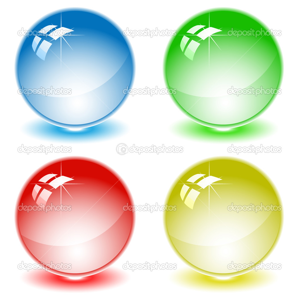 Set of color balls. All layers are grouped. — Stock Vector #6724123