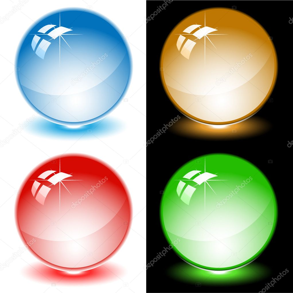 Set of color balls. All layers are grouped.  Stock Vector #6724127