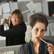 Office Worker Attacked - Stock Photo