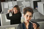 Kantoor werknemer aangevallen — Stockfoto