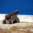 Stock Photo: Cannon inside fortress in Sagres Point Portugal