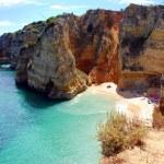 Cliffs at the Dona Ana beach, Algarve coast in Portugal — Stock Photo #6659544