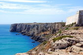 The monumental cliffs at coast near Sagres point in Portugal — Stock Photo