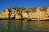 Yellow cliffs in Lagos in the Algarve Portugal — Stock Photo