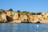 Beach Dona Ana in Lagos in the Algarve Portugal — Stock Photo