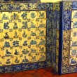 Famous portuguese blue and white decorative tiles also known as azulejos — Stok fotoğraf