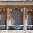 Typical moroccan tiled fountain in the city of Rabat, - Stock Photo