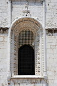 Stained Glass in Jeronimos Monastery in Lisbon — Stock Photo