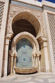 Fountain in Hassan II mosque — Stock Photo