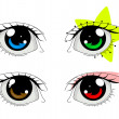 Stock Vector: Anime eyes set