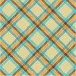 Textured tartan plaid, vector pattern — Stock Photo