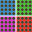 Set of 4 plaid patterns — Stock Photo #6665480